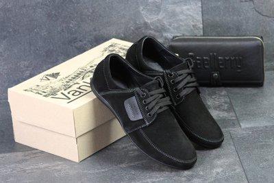 Туфли мужские замш Van Kristi Black
