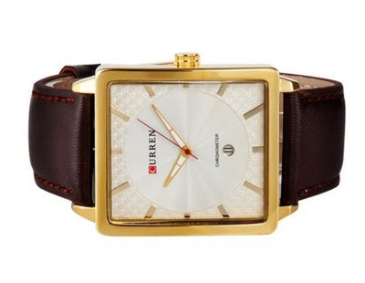 Часы мужские Curren Senator gold white