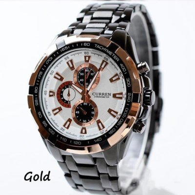Часы мужские Curren Granit silver-gold-white