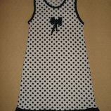Платье в горошек на девочку 6-7 лет