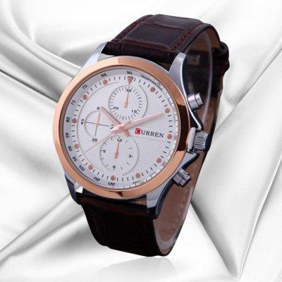 Часы мужские Сurren Pentagon brown-gold-white
