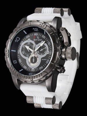 Часы мужские v6 Grizzly white