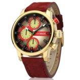 Часы мужские Curren California red-gold-red