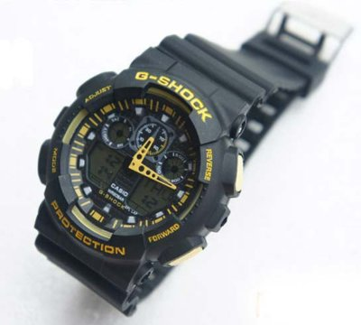Часы Casio G-Shock black-yellow