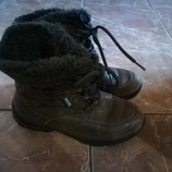 Ботинки geox кожа р.36 зима термо
