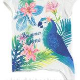 футболка для девочки белая LC Waikiki / Лс Вайкики с надписью Summer Time