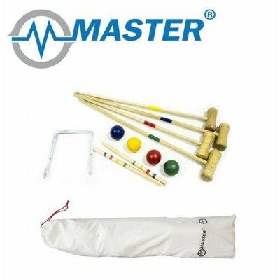 Набор для игры в крокет Master для 4 человек оригинал Чехия croquet дерево