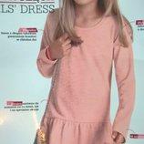 Платье для девочки персиковое с длинным рукавом