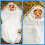 Крыжма полотенце для крещения с капюшоном