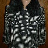 XS-S пальто короткое классическое, пальто демисезонное, пальто женское, пальто с рукавом 3/4