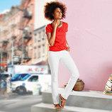 Белые джинсы слим - фит с вышивкой от Тcм Tchibo
