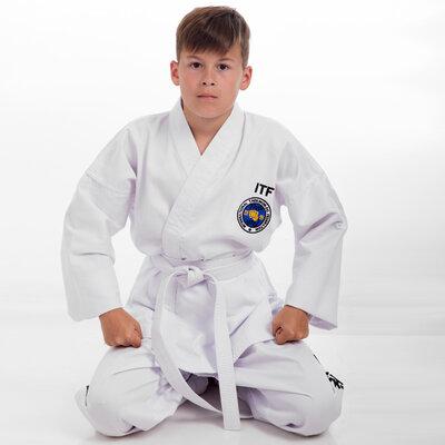 Добок кимоно для тхэквондо ITF 5468 размер 120-170см, плотность 240
