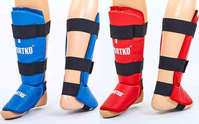Защита голени с футами для единоборств Sportko 331 2 цвета, размер S-XL