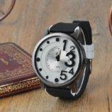 Часы наручные QF number black-white