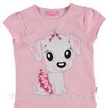 футболка для девочки розовая LC Waikiki / Лс Вайкики с собачкой в юбке на груди