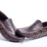 Мокасины Levi's Driving кожаные темно-коричневые 80 - 04