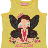 майка для девочки желтая LC Waikiki / Лс Вайкики с феей на груди