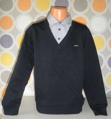Реглан рубашка-обманка на парней в трех цветах 116,128,140р