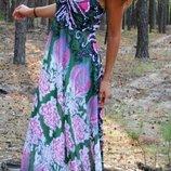 Шикарный летний сарафан с поясом 44р розпродаж