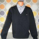 Реглан рубашка-обманка на парней в трех цветах 116-164р