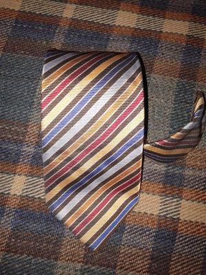 Шелковый галстук Les Copains, 100% шёлк, оригинал, Италия