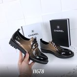 Туфли - омбре цвет BLACK KHAKI , материал эко замш материал эколак ,