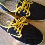 Стильные эспадрильи на шнуровке 42 р. 27 см. текстиль сеточка, суперлегкие