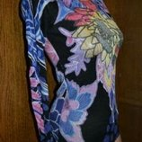 Яркая кофточка, нарядная кофта, блуза трикотажная, лонгслив, кофта с длинным рукавом, кофточка