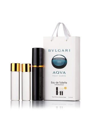 Мужской мини парфюм BVLGARI AQUA POUR HOMME EDT 3x15ml