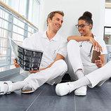 Белые медицинские мужские брюки от немецкой фирмы JobStyle