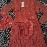 Нарядное платье с болеро и сумочкой, новое