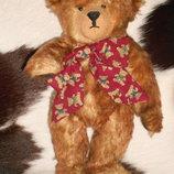 суперский коллекционный шарнирный Мишка Медведь ручная работа мохер из Англии 30 см