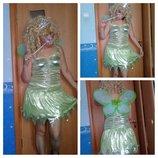 Карнавальное платье Феи Динь-Динь взрослое.