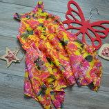 Платье яркое в цветы M&S 1,5-2 года