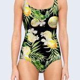 Цельный купальник 3D Спелые лимоны Большой выбор