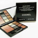 Набор для макияжа Chanel Color Spirit 3 в 1-тени пудра румяна 3 варианта палитр