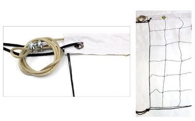 Сетка для волейбола с металлическим тросом 5263 9x0,9м, ячейка 15x15см