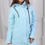 Демісезонне пальто 333624. Три кольори ,розміри 42, 44 ,46.