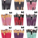 Кисти для макияжа набор 15 шт разные цвета