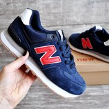 Кроссовки New Balance 574 dark blue/red
