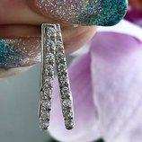 Серьги серебряные сережки Лео 2068