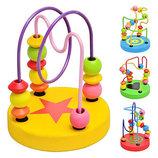 Деревянные игрушки пальчиковый лабиринт игрушка для мелкой мотирики шнуровка
