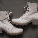 S. Oliver 40 зимние замшевые ботинки женские