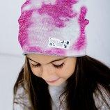 Двостороння демі шапочка для дівчинки Космо