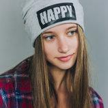 DemboHouse. Демі шапочка для дівчинки Луі сіра HAPPY