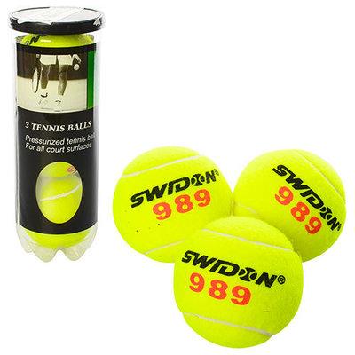 Мяч для большого тенниса Swidon 1179 3 мяча в комплекте тренировочные