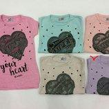 Шикарные футболочки для девочек, р.128-164, Турция