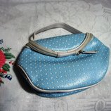 Косметичка голубая, сумка для туши, помады, пудры, духи, лак