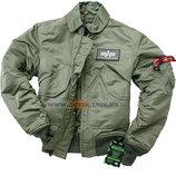 Летная куртка CWU 45/P Alpha Industries оливковая