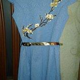 Платье нарядное набивное
